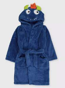 TU Blue Monster Kids Dressing Gown From £5.00 + £3.95 Delivery From Argos