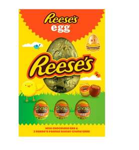 Reese's Milk Chocolate Egg With 3 Peanut Butter Creme Eggs 232G £3.95 clubcard price at Tesco (+ Delivery Charge / Minimum Spend Applies)