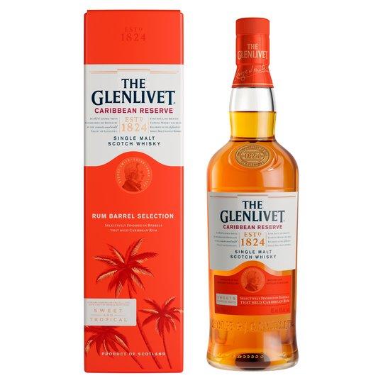 Glenlivet Caribbean Reserve 70Cl £26 (Clubcard Price) - Minimum Basket / Delivery Fees Apply @ Tesco