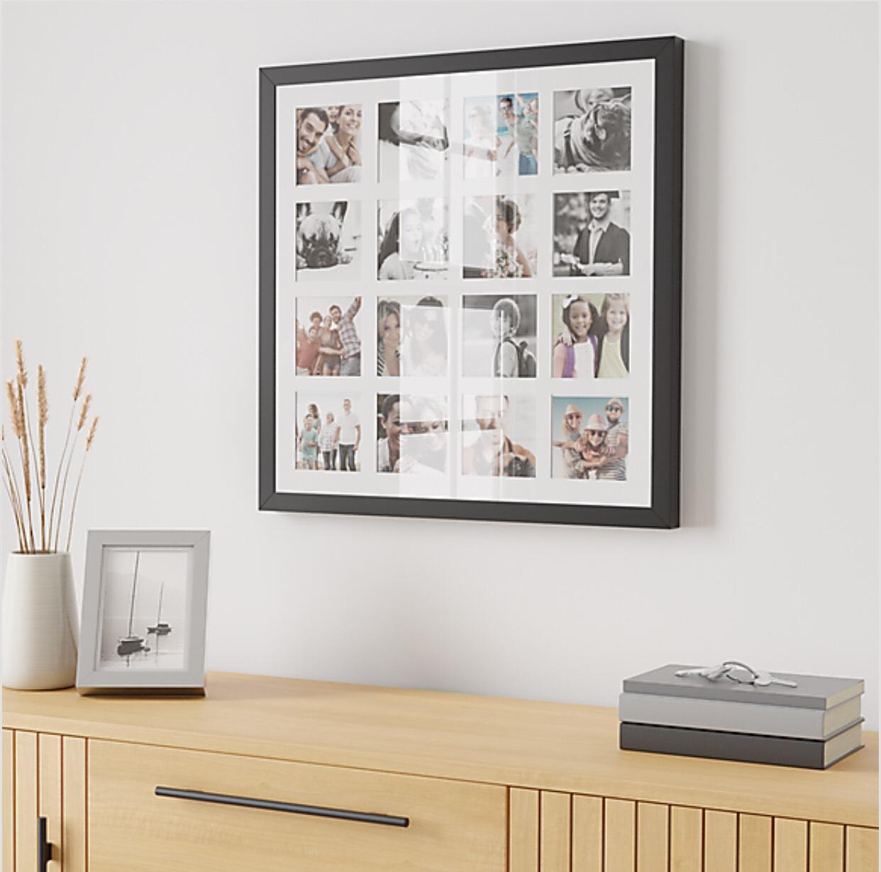 Black Square Multi App Photo Frame £15 + £3.95 = £18.95 delivered @ Dunelm