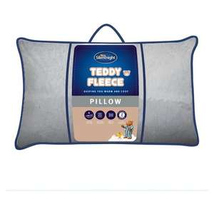 Silentnight Teddy Pillow - Silver Delivery Charge / Minimum Spend Applies) £3.50 @ Tesco