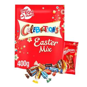 Celebrations Chocolate Easter Mix 400G - £2.50 (Min Spend & Delivery Fee Apply / Clubcard Price) @ Tesco