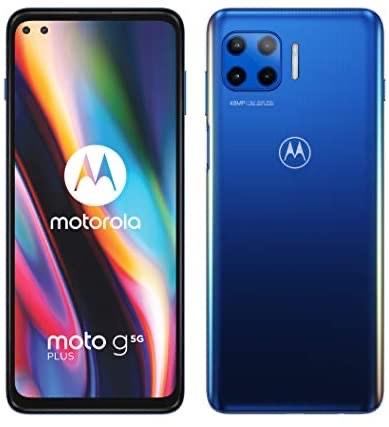 """Motorola moto g 5G plus (5G, 6.7"""" FHD+, 48MP quad camera, Dual SIM, 4/64GB, Android 10), Surfing Blue - £219.95 @ Amazon"""