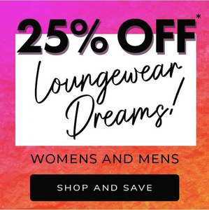 Peacocks 25% off loungewear men and women - £3.99 Delivery / Free over £20 spend
