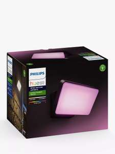 Philips Hue White and Colour Ambiance Discover LED Outdoor Floodlight, Black - £102.99 delivered @ John Lewis & Partners