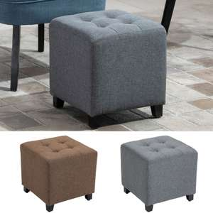Tufted Ottoman Linen-Touch Fabric Upholstered Footstool £23.79 delivered uisng code @ eBay / 2011homcom