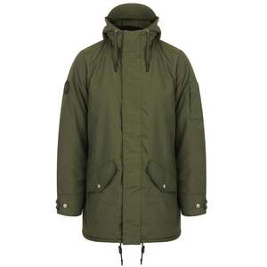 Men's Hooded Parka Coat with Quilted Lining £25.99 Delivered using code @ Tokyo Laundry