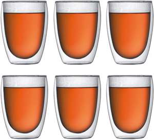 Bodum PAVINA Double Walled Thermo Glasses, 0.36 L, 12 oz, Pack of 6 - £31.60 @ Amazon