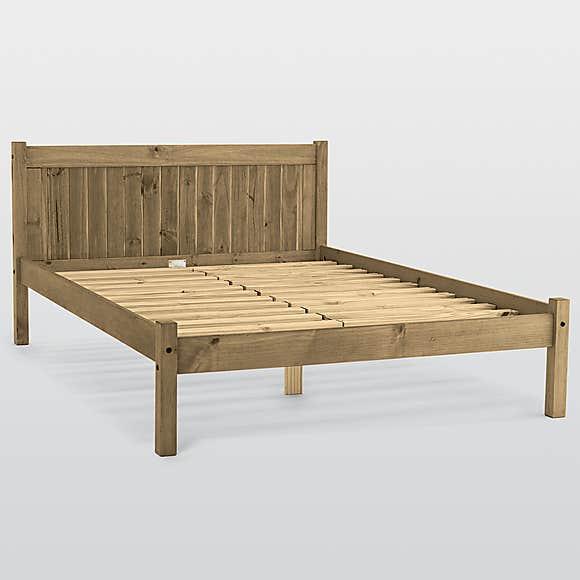 "Maya Bed Frame (Solid Pine Wood) - Double 4'6"" - £108.95 Delivered @ Dunelm"