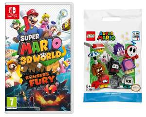 Super Mario 3D World + Bowser's Fury (Nintendo Switch) and Free LEGO Super Mario 71386 Character Pack for £39.99 delivered @ Smyths
