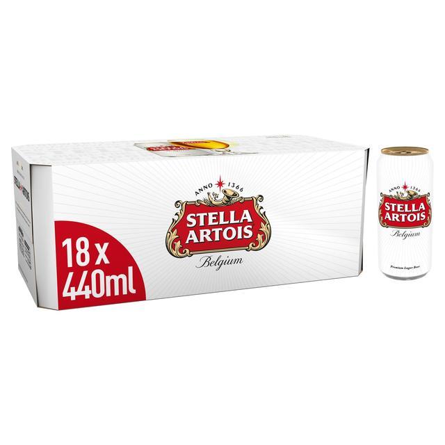 Stella Artois Premium Lager 18 x 440ml - £8 (+ Delivery Charge / Minimum Spend Applies) @ Ocado