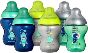 Tommee Tippee Closer to Nature Decorated Baby Bottles 260ml 6 Piece £7.50 prime / £11.99 nonPrime at Amazon