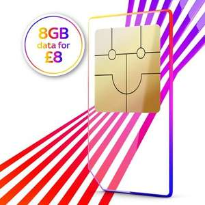 Sky Mobile Sim Only Offer - 8gb data, unlimited texts and minutes, 12 months - £8 per month (£96 total) @ Sky