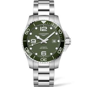 Longines HydroConquest 43mm Automatic Watch, Green - £1,045 delivered @ Francis & Gaye