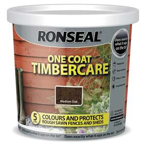 Ronseal Timbercare Medium Oak or Dark Oak 5L - £4 Clubcard Price (+ Delivery Charges / Minimum Basket Applies) @ Tesco