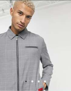 Mens' Hugo Boss checked jacket in grey £76 delivered w/ code @ ASOS