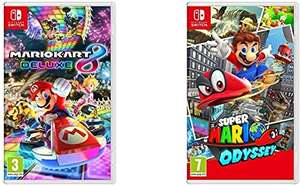 Super Mario Odyssey / Mario Kart 8 Deluxe for Nintendo Switch , £31.99 each with code at Currys PC world