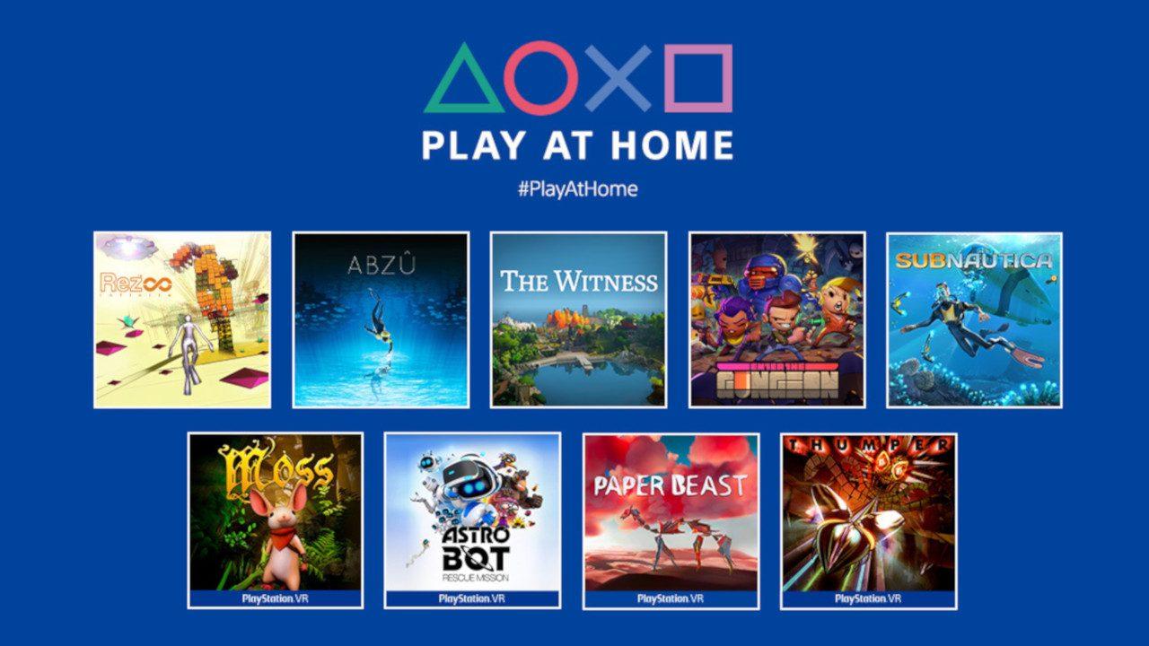 10 Games Free To Keep : Horizon Zero Dawn Complete Edition (April 20) + Abzu/ Rez/Thumper/ Subnautica/ Astro Bot & more : Play at Home @ PSN