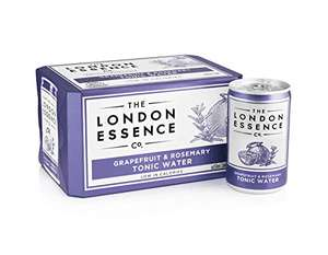 London Essence Co Tonic Water, Grapefruit and Rosemary, 150 ml cans (24) - £8 (+£4.49 Non-Prime) using voucher @ Amazon