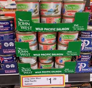 213g Tin of Pink Wild Pacific Salmon - £1.29 Instore at Farmfoods (Longton)