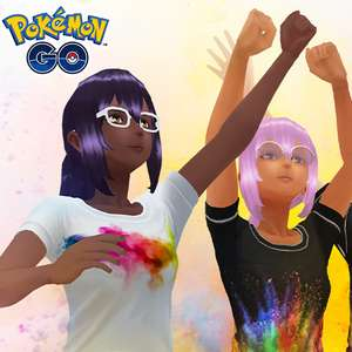 2 T-shirt Avatars as part of Festival of Colors @ Pokemon Go