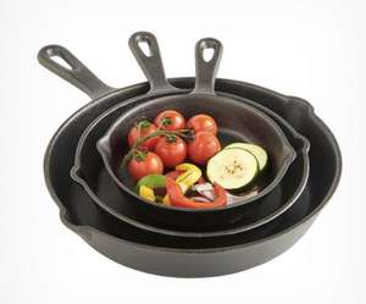 Vonhaus 3 piece Cast Iron Skillet set back in stock - £34.99 (UK Mainland only) @ VonHaus