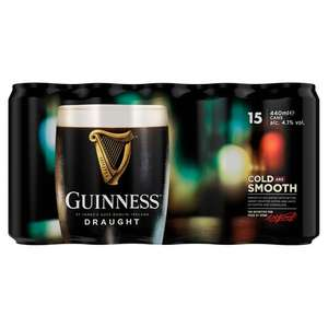 Guinness Draught Cans 15 x 440 ml £9.99 (+ Delivery Charges / Minimum Basket Charges Apply) @ Morrisons