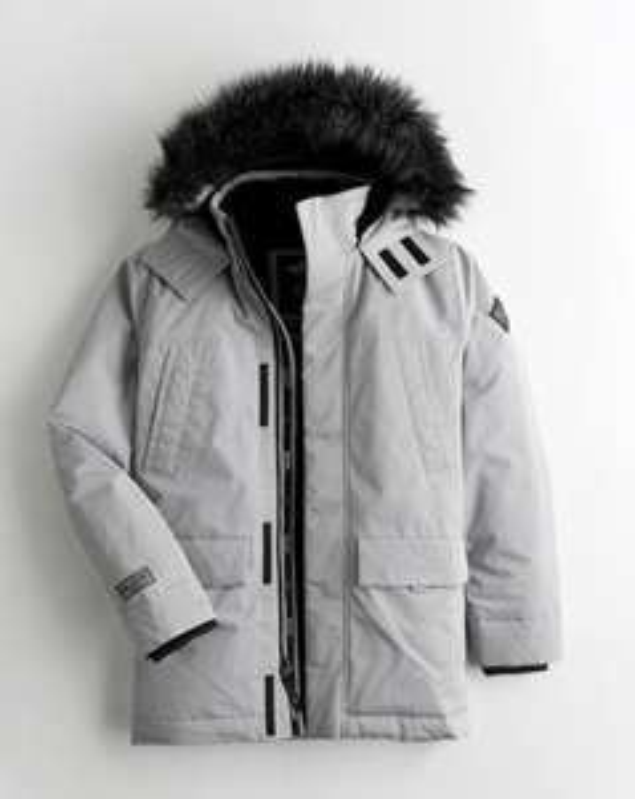 Men's Hollister Faux - Fur Lined Parka Jacket Now £42.99 + Free delivery via App @ Hollister