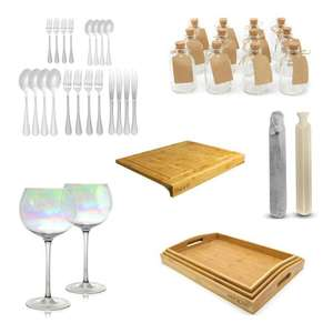 Roov Lightning Deals - EGs: 20 Piece Stainless Steel Cutlery Set - £8.94 Delivered / 2x Iridescent Gin Glasses - £8.94 Delivered