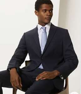 M&S Navy Slim Fit Wool Blend Suit - Jacket + Trousers / Number of Sizes Available £13.88 + £3.50 delivery @ Marks and Spencer