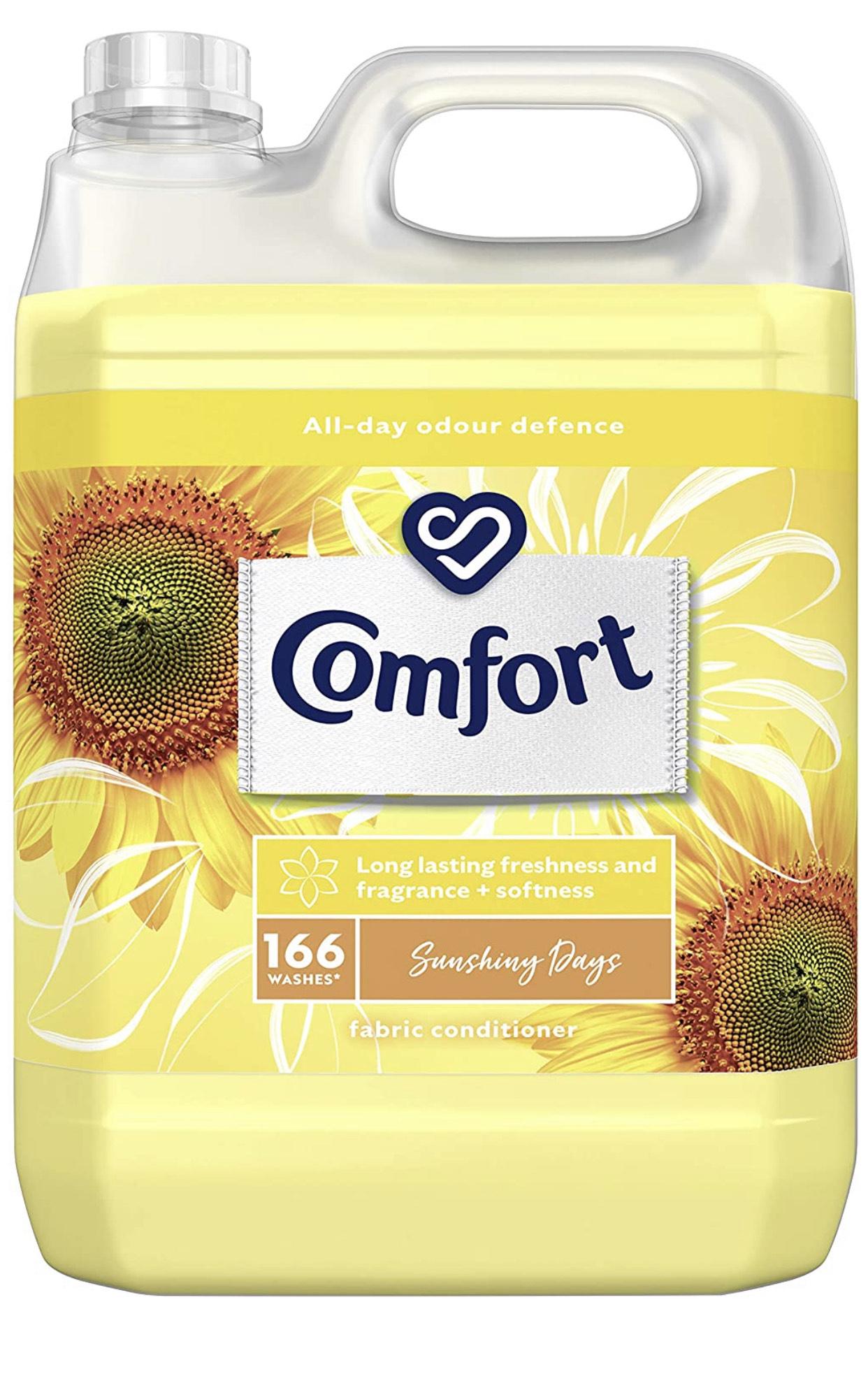 Comfort Sunshiny Days Fabric Conditioner 5 litre £6 (+£4.49 non-prime) @ Amazon