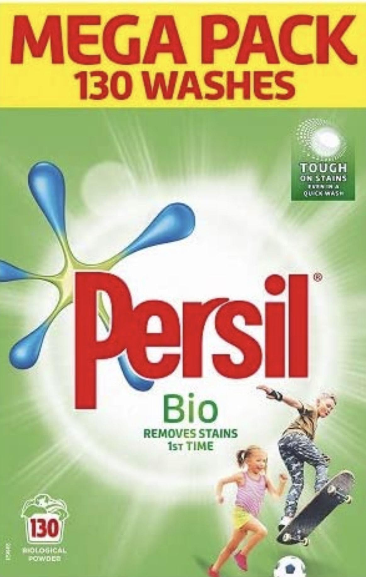 Persil Bio Stain Removal130 Wash 8.385 kg £15.86 (+£4.49 non-prime) @ Amazon