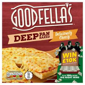 Goodfella's Deep Pan Baked Pizzas (Cheesy / Meat Feast / Cheeseburger / Pepperoni) - £1 (Min Spend / Delivery Fee Applies) @ Iceland