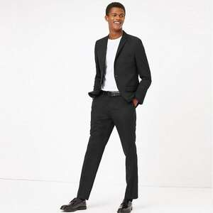Men's Skinny Fit 2 Piece Black Suit now £18.00 (+ £3.50 delivery or free with £50 spend) @ Marks & Spencer
