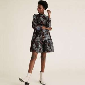 Jersey Floral Mini Tiered Dress now £7.50 (+ £3.50 delivery or free with £50 spend) @ Marks & Spencer