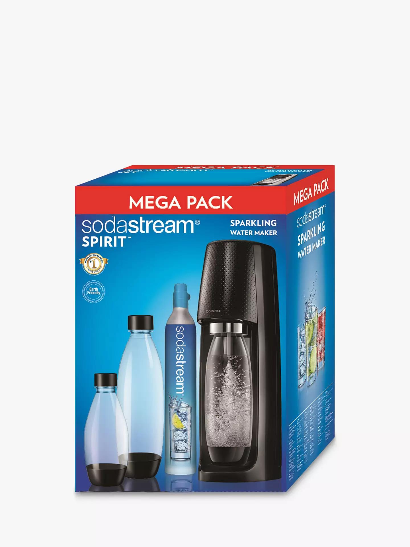 SodaStream Spirit Sparkling Water Maker Mega Pack 60L £59.99 delivered @ John Lewis & Partners