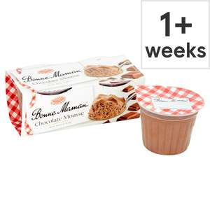 Bonne Maman chocolate/strawberry/Blackcurrant Mousse 2x70g £1 clubcard price (Minimum Basket / Delivery Fees Apply) @ Tesco