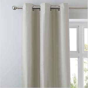 Nova Ivory Blackout Eyelet Curtains from £10 + £3.95 Delivery @ Dunelm
