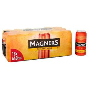 Magners Cider 18 x 440ml cans for £10 (Minimum Purchase / Delivery Charge Applies) @ Morrisons