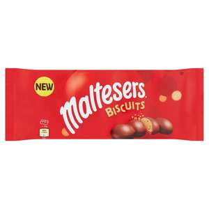 Maltesers chocolate biscuits and Maltesers mint biscuits 110g 75p in in Tesco Broughton