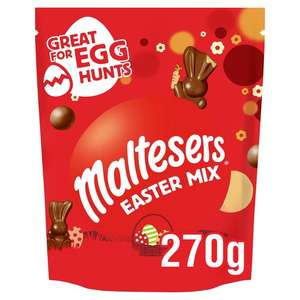 Maltesers Easter Mix Large Sharing Pouch 270g (+ Delivery Charge / Minimum Spend Applies) £2.50 @ Tesco