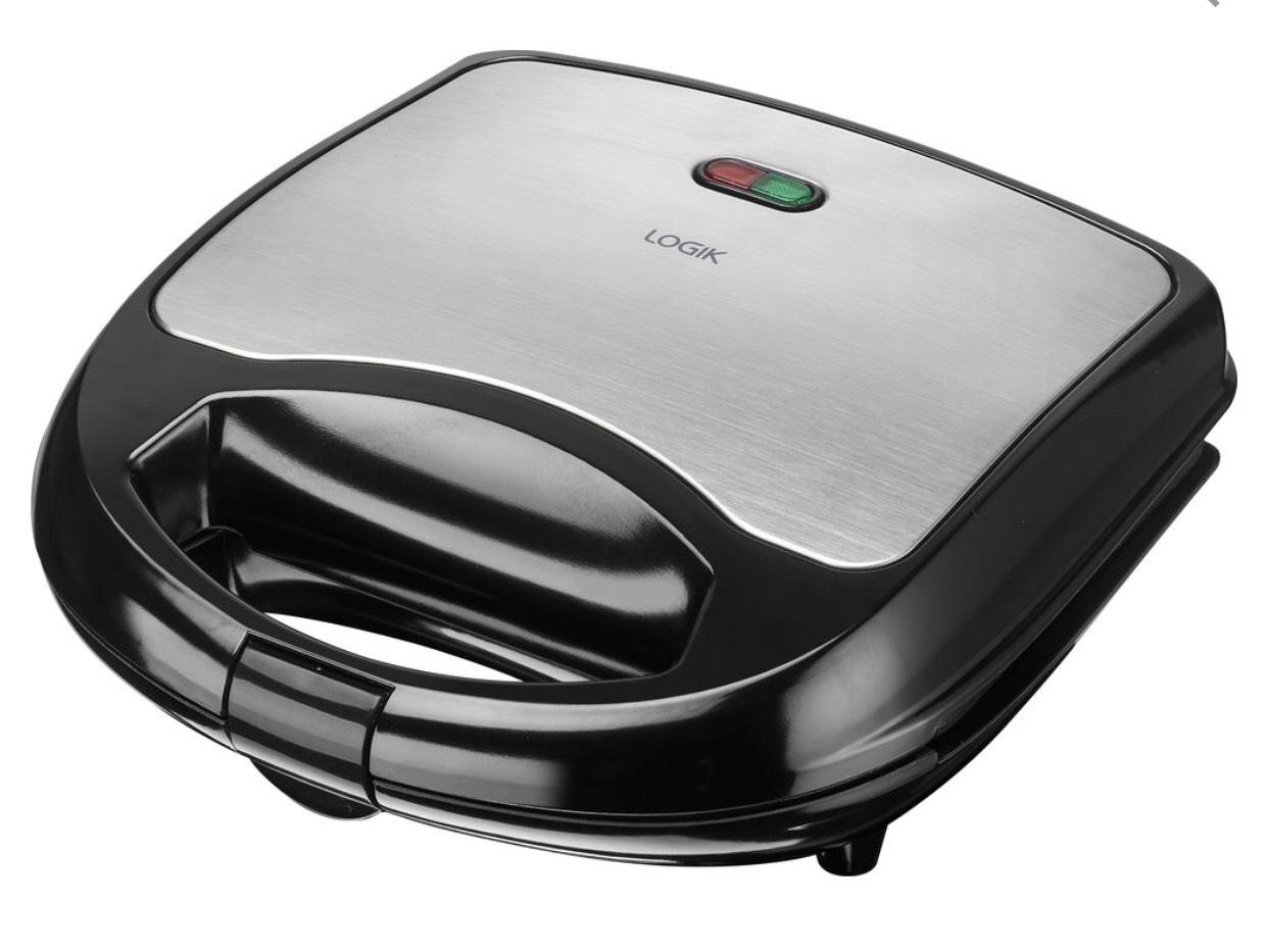 LOGIK L02SMS17 Sandwich Toaster - Black & Silver - £7.99 @ Currys PC World