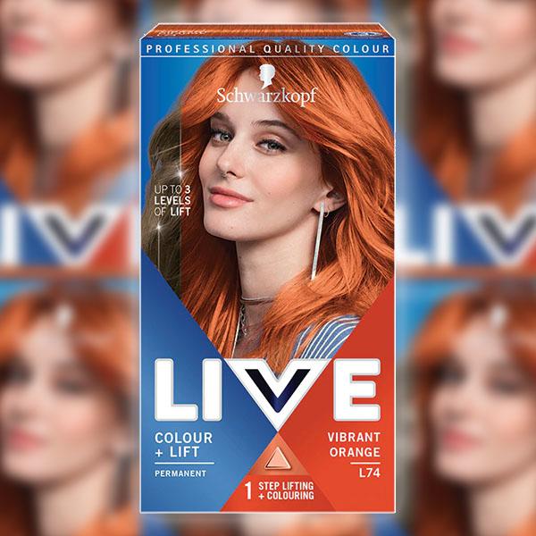 3 x Schwarzkopf Live Colour & Lift Vibrant Orange L74 Permanent Hair Dyes £5.00 delivered @ Yankee Bundles