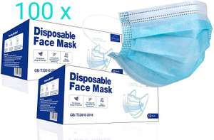 VIROSA FM100 Extra VALUE 3 Layer Face Masks PACK of 100 - £8.99 (+£4.49 Non Prime) Sold by GreatDeals4you and Fulfilled by Amazon