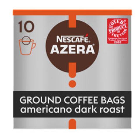 Nescafe Azera Americano Dark Roast Coffee Bags 10 Pack £1.50 @ Asda Telford