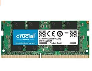 Crucial CT8G4SFRA32A 8 GB (DDR4, 3200 MT/s, PC4-25600, SODIMM, 260-Pin) Memory, Green - £28.79 @ Amazon