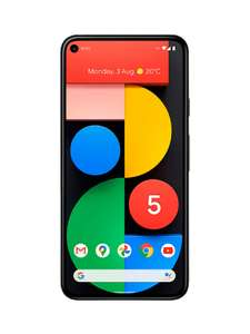"Excellent Google Pixel 5 5G Smartphone, Android, 8GB RAM, 5.96"", 5G, SIM Free, 128GB, Just Black - £445.50 With Code @ Stock Must Go"