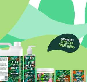Flash Sale: 50% Off This Weekend Only + £5.75 Delivery / Free On Orders Over £55 @ Faith in Nature