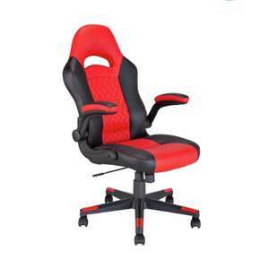 Argos Home Raptor Faux Leather Gaming Chair - Black & Red - Seller refurbished, 9 available - £49.99 delivered @ globalbayzltd / eBay