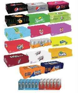 Soft Drinks 24 × 330ml Can Cases Pepsi Max/Coke Zero/Fanta Fruit Twist/7up Free/Sprite/Tango/Irn Bru & Others are Any 4 for £24 @ Farmfoods